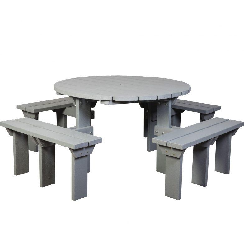 Grey olympic picnic bench