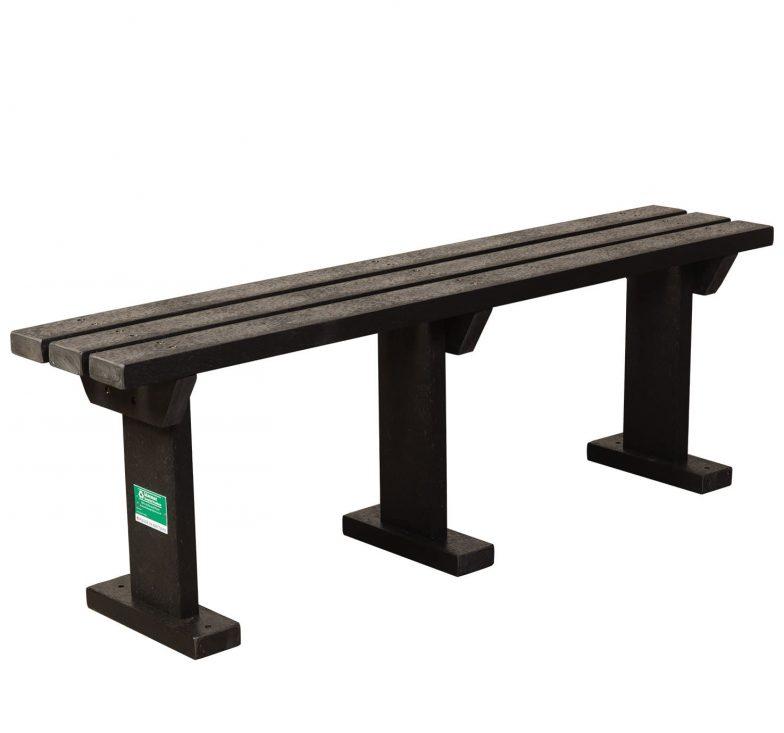 Black sturdy bench