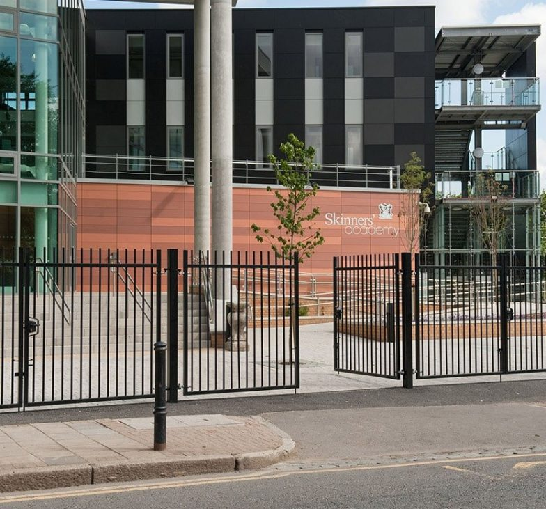 Blunt top railings and gates