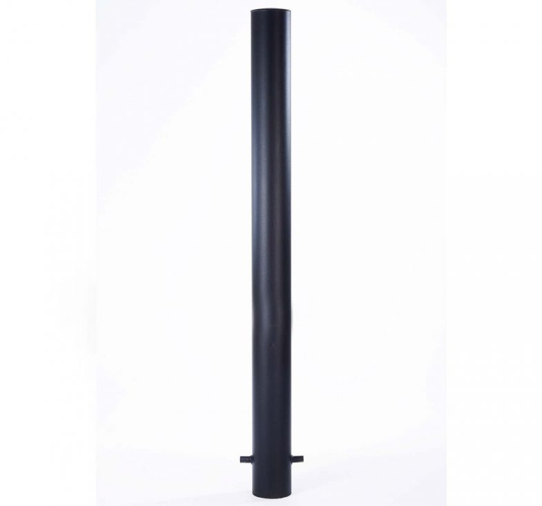 Ragged black bollards
