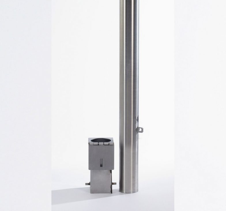 Stainless steel removable bollards