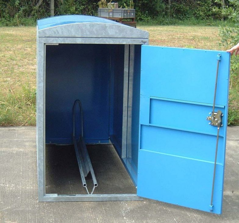 Clad cycle lockers