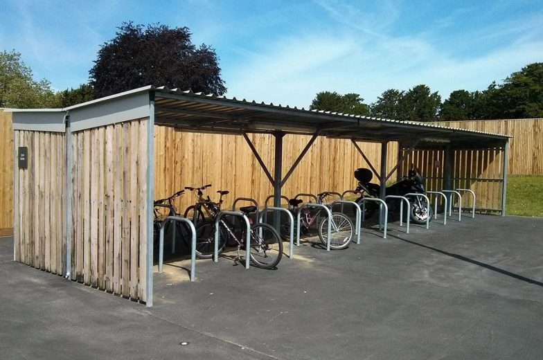 Cycle shelters for manor house