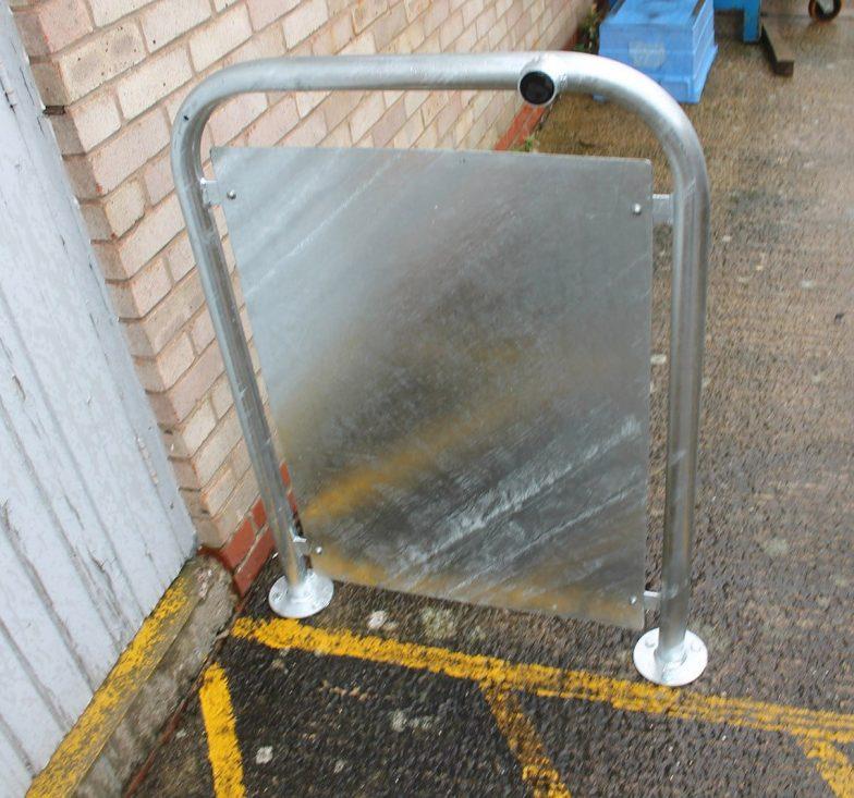 door stop with infill