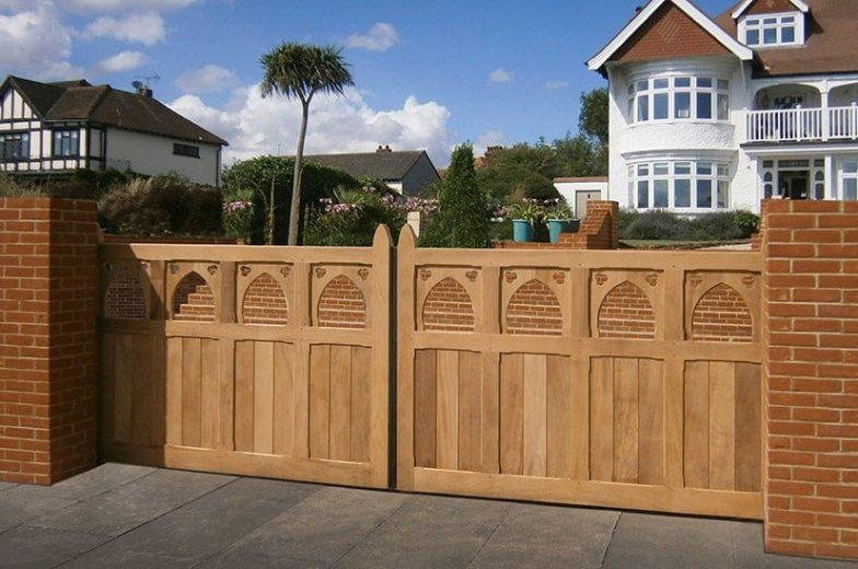 hardwood swing gate