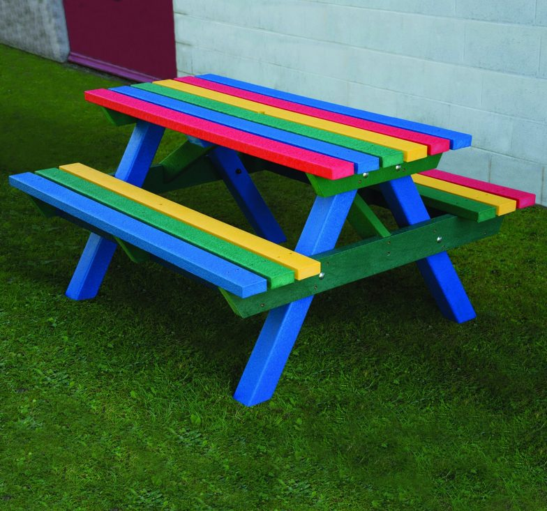 Rainbow heavy duty picnic bench