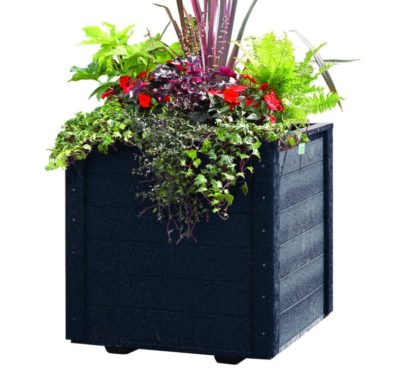 Large black planter