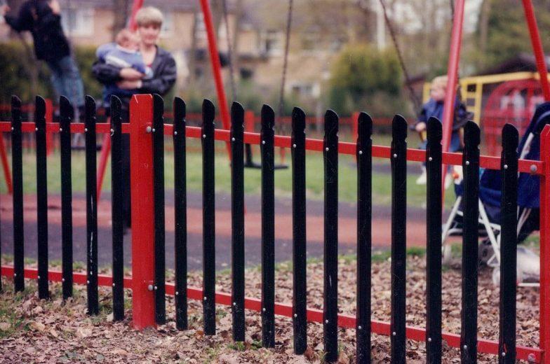 Playground palisade fence