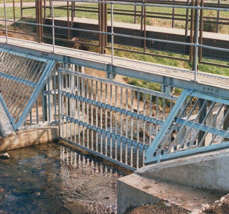 Secure river barrier