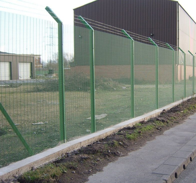 Weldmesh security fence