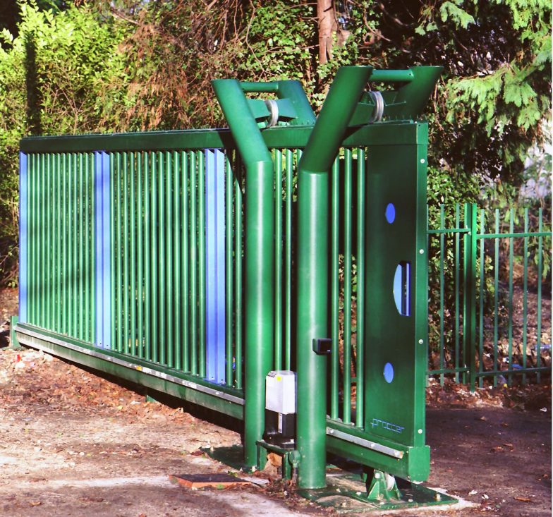 cantilevered gates