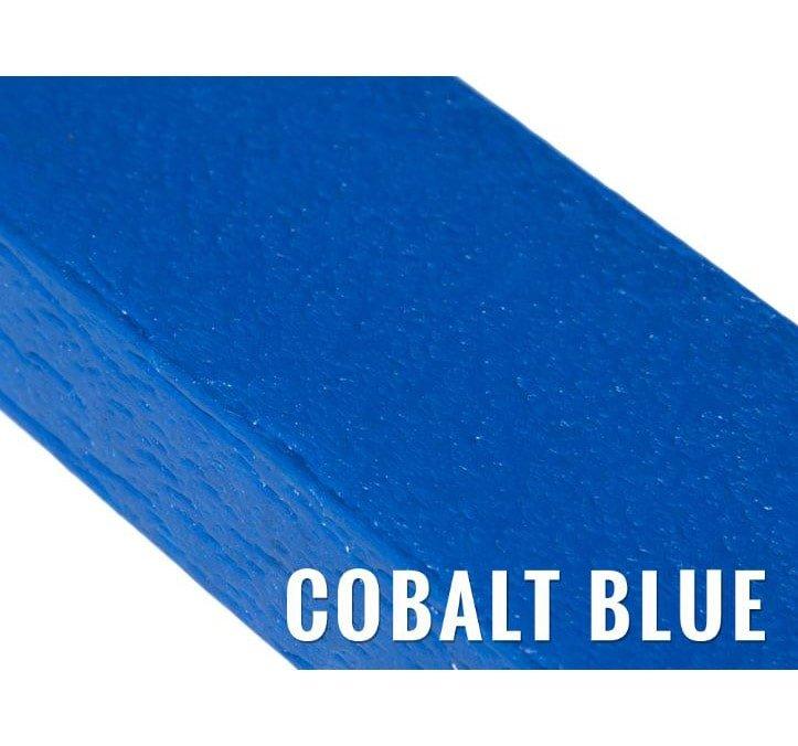 recycled plastic knee rail cobalt blue