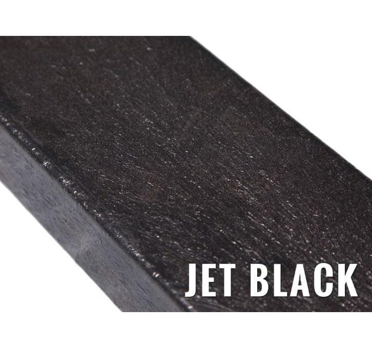 recycled plastic knee rail jet black
