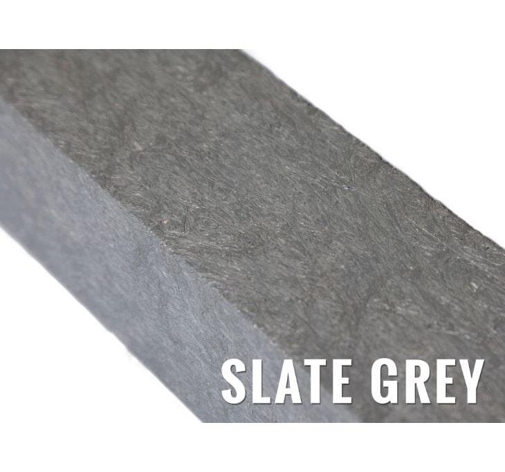 recycled plastic knee rail slate grey