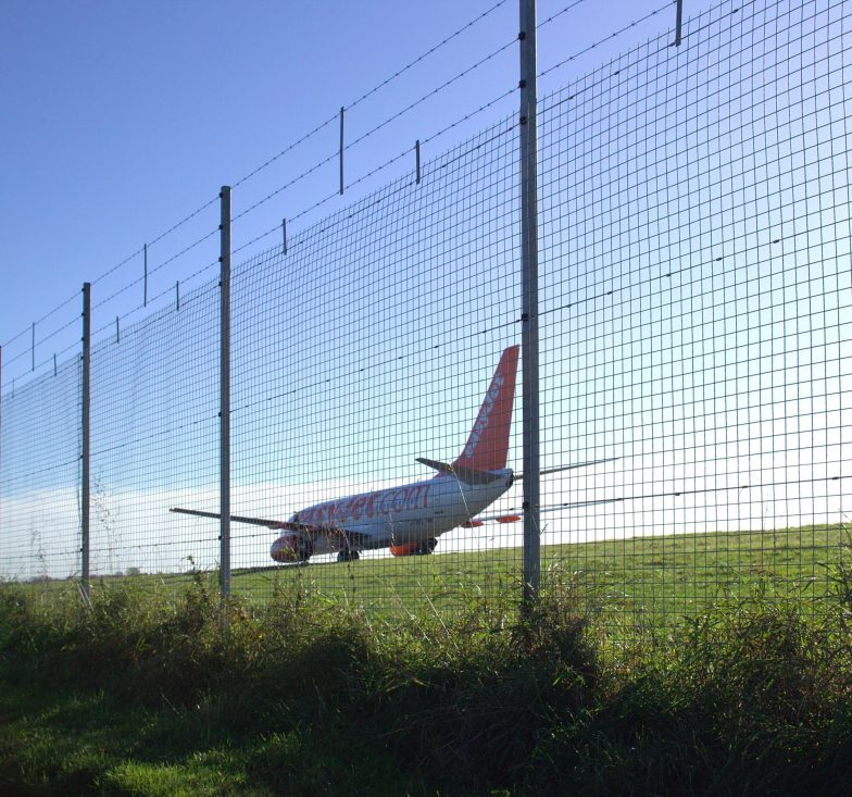 Airport weldmesh fence