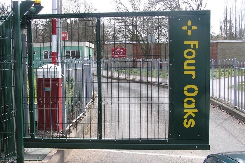 Branded gates for school
