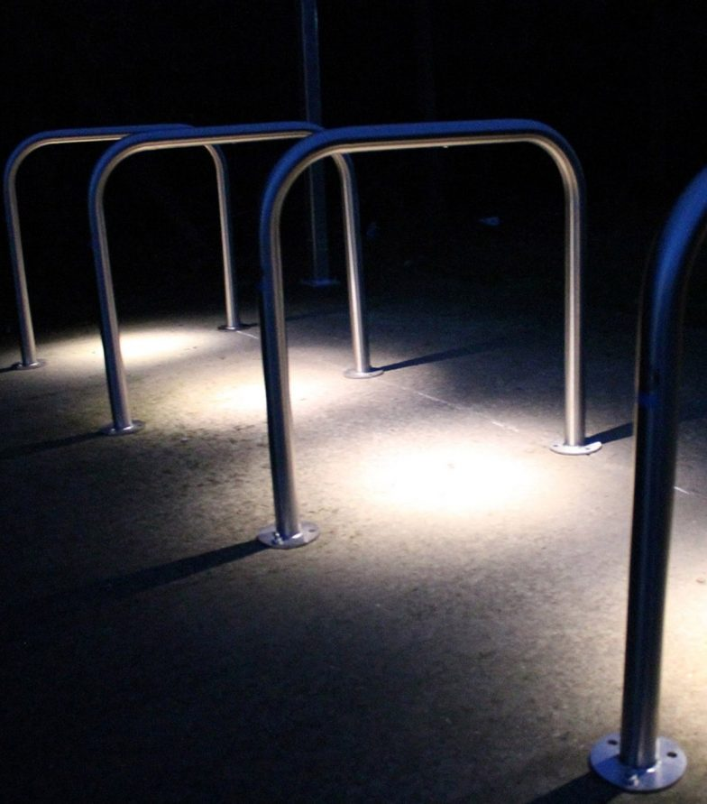 Illuminated cycle stands