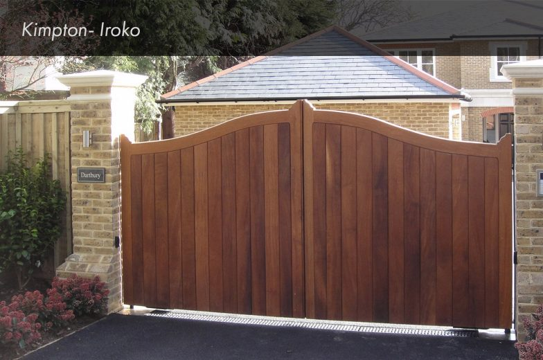 Iroko Kimpton Hardwood Gate