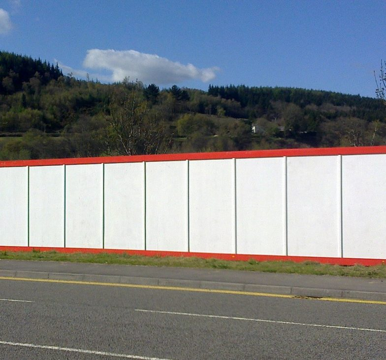 Painted site hoardings