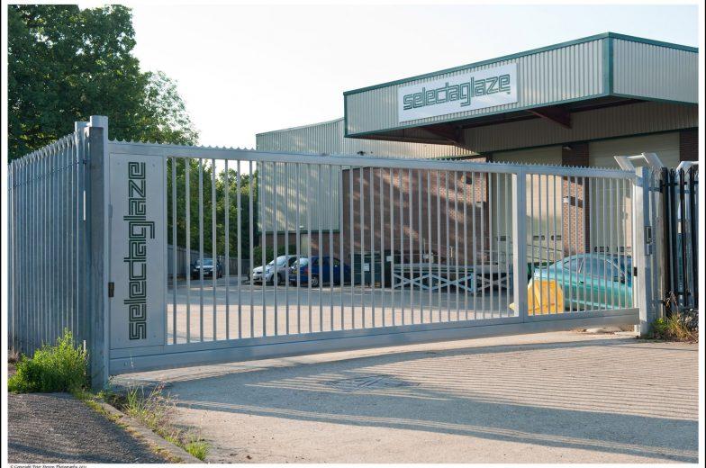 Branded sliding gates