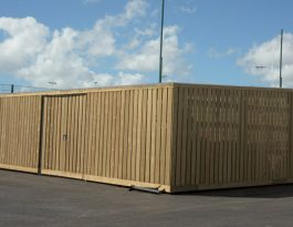 Timber clad bin stores