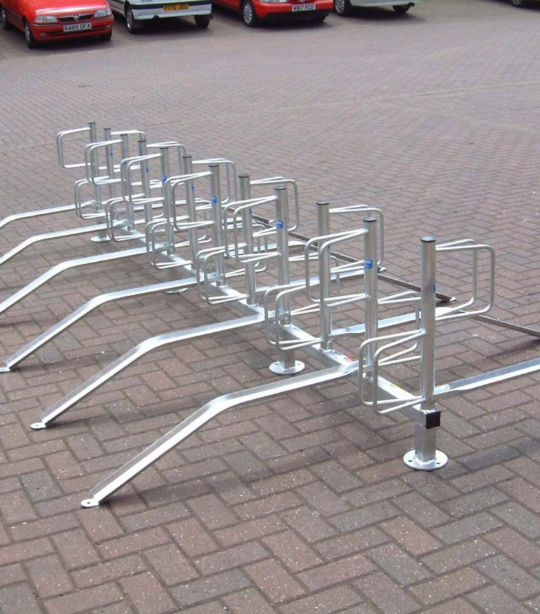 Type E cycle racks