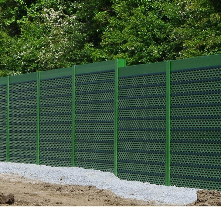 green pro-acoustic barrier