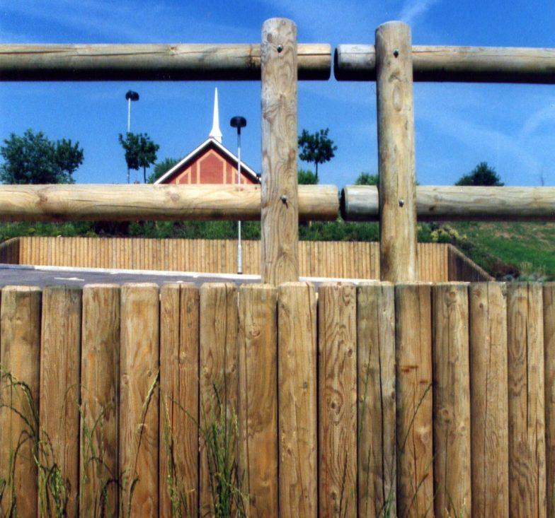 Wooden log walling