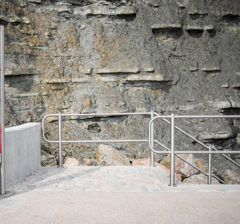 Stainless steel handrails in Lyme regis