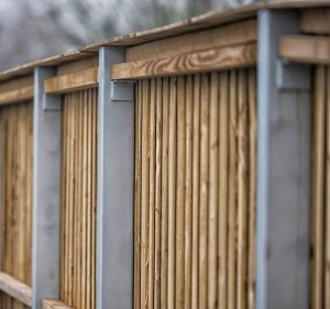 Timber acoustic fence for B&Q