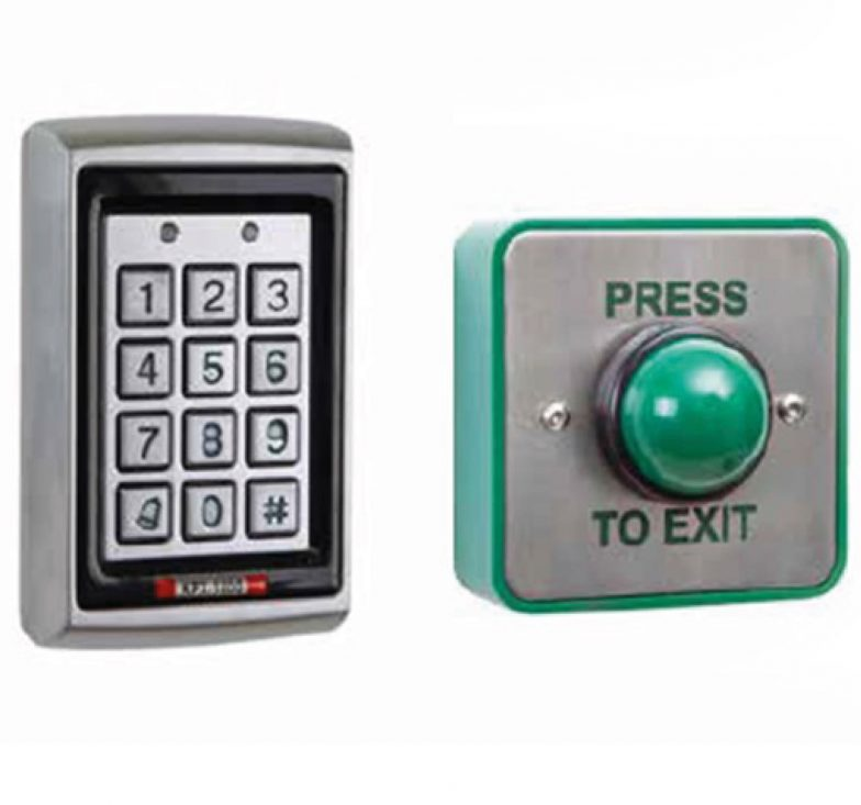 Access control keypad and button