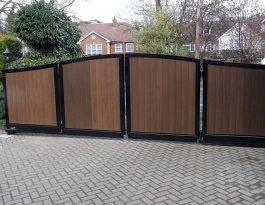 Timber bi-fold gates