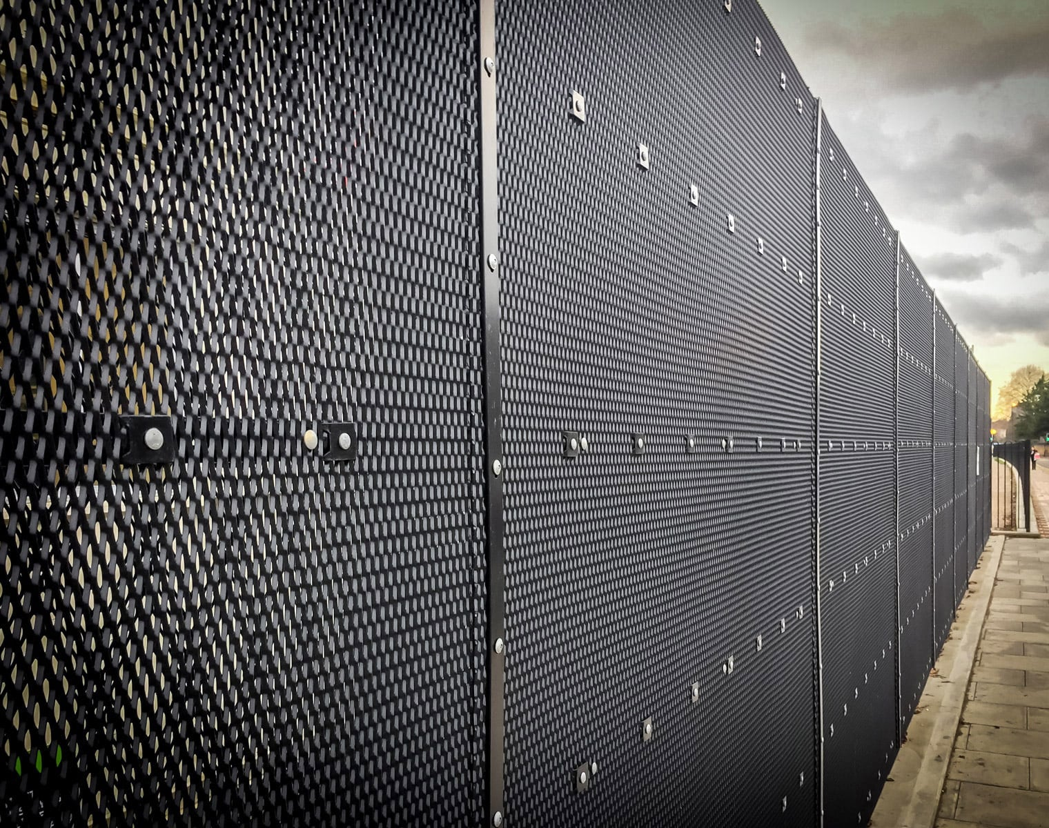 Metal Mesh Panel Fencing Procter Contracts