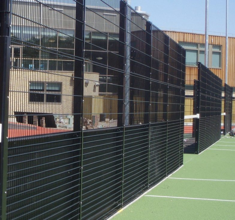 Weldmesh fence for business college