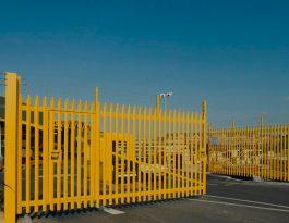 Palisade swing gates