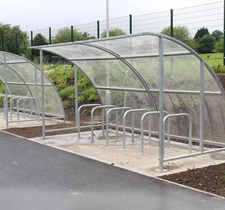 Bicycle shelter for schools